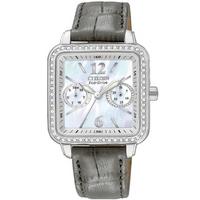 Buy Citizen Ladies Silhouette Black Leather Strap Watch FD1050-08D online