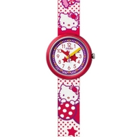 Buy Flik Flak Girls Hello Kitty Sugar World Material Strap Watch FLN060 online