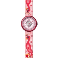 Buy Flik Flak Girls Pink Peacock Material Strap Watch FPN052 online