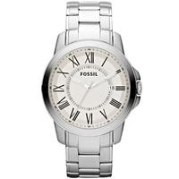 Buy Fossil Gents Fashion Silver Tone Steel Bracelet Watch FS4734 online