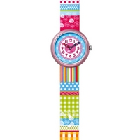 Buy Flik Flak Girls Summer Lines Colourful Watch FTB016 online