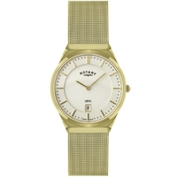 Buy Rotary Gents Mesh Gold Tone Bracelet Watch GB02613-03 online
