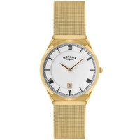 Buy Rotary Gents Mesh Gold Tone Bracelet Watch GB02613-21 online
