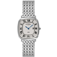 Buy Rotary Gents Ultra-Slim Square1895 Bracelet Watch Silver GB08100-21 online