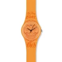 Buy Swatch Ladies Time Never Dies Orange Watch GO110 online