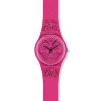 Buy Swatch Ladies Time Never Dies Pink Watch GP138 online