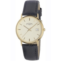 Buy Rotary Gents 18ct Gold Strap Watch GS11876-03 online