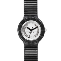 Buy Hip Hop Unisex Crystal Black Tie Strap Watch HWU0073 online