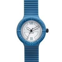 Buy Hip Hop Unisex Large Deep Blue Strap Watch HWU0120 online