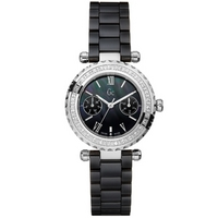 Buy Gc Ladies Black Diamond Stone Set Ceramic Bracelet Watch I01200L2 online