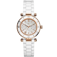 Buy Gc Ladies Mother of Pearl White Ceramic Bracelet Watch I42004L1 online