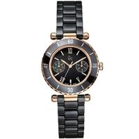 Buy Gc Ladies Mother of Pearl Black Ceramic Bracelet Watch I42004L2 online