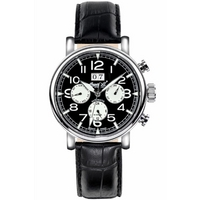 Buy Ingersoll Filmore Automatic Black Leather Strap Watch IN1206BK online