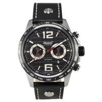 Buy Ingersoll Gents Arkansas Black Leather Strap Watch IN1816BK online