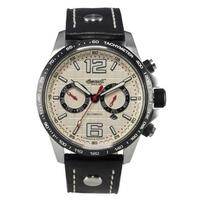 Buy Ingersoll Gents Arkansas Black Leather Strap Watch IN1816CH online