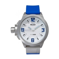 Buy Welder Gents White Dial Blue Rubber Strap Watch K22-904 online