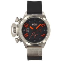 Buy Welder Gents Black Dial Black Rubber Strap Watch K24-3201 online