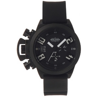 Buy Welder Gents Black Dial Black Rubber Strap Watch K24-3301 online