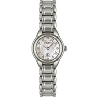 Buy Rotary Ladies Stone Set Silver Tone Bracelet Watch LB02601-07 online