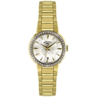 Buy Rotary Ladies Gold Tone Stone Set Watch LB02845-40 online