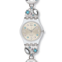 Buy Swatch Ladies Stone Set Bracelet Watch LK292G online