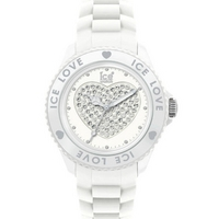 Buy Ice-Watch Ladies Love White Rubber Strap Watch LO.WE.U.S online