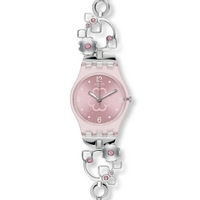 Buy Swatch Ladies Silver Flowers Watch LP130G online
