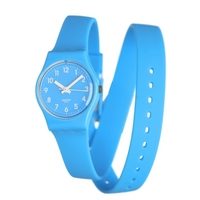 Buy Swatch Ladies Blue Round Resin Watch LS112 online