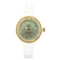 Buy LTD Unisex Stone Set White Resin Bracelet Watch LTD021503 online