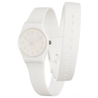 Buy Swatch Ladies Original White Double Strap Watch LW134C online