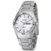 Buy Accurist Gents Silver Tone Bracelet Watch MB639S online