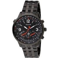 Buy Accurist Gents Chronograph Black Steel Bracelet Watch MB886B online