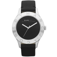 Buy Marc by Marc Jacobs Ladies Blade Black Leather Strap Watch MBM1205 online