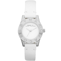 Buy Marc by Marc Jacobs Ladies Mini Blade White Leather Strap Watch MBM1206 online