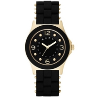 Buy Marc by Marc Jacobs Ladies Pelly Black Rubber Strap Watch MBM2540 online