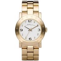 Buy Marc by Marc Jacobs Ladies Amy Gold Tone Steel Bracelet Watch MBM3056 online