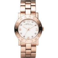 Buy Marc by Marc Jacobs Ladies Amy Rose Gold Tone Steel Bracelet Watch MBM3077 online