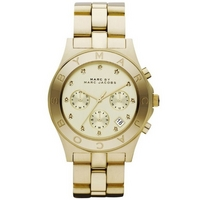 Buy Marc by Marc Jacobs Ladies Blade Gold Tone Chronograph Watch MBM3101 online