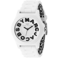 Buy Marc by Marc Jacobs Gents Sloane White Rubber Strap Watch MBM4005 online