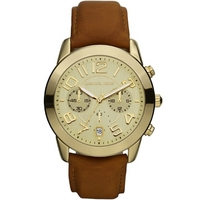 Buy Michael Kors Gents Brown Leather Strap Watch MK2251 online