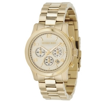 Buy Michael Kors Ladies Gold Tone Steel Bracelet Watch MK5055 online