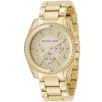 Buy Michael Kors Ladies Gold Tone Steel Bracelet Watch MK5166 online