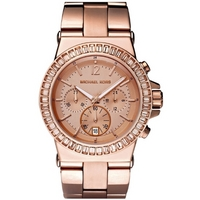 Buy Michael Kors Ladies Baguette Bezel Rose Gold Tone Bracelet Watch MK5412 online