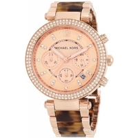 Buy Michael Kors Ladies Tortoiseshell Steel Bracelet Chronograph Watch MK5538 online