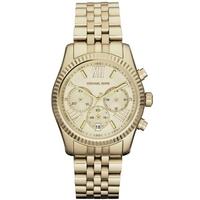Buy Michael Kors Ladies Chronograph Gold Tone Steel Bracelet Watch MK5556 online