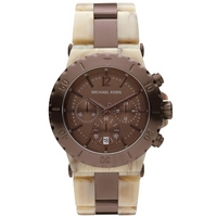 Buy Michael Kors Ladies Chronograph Plastic Strap Watch MK5596 online