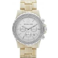 Buy Michael Kors Ladies Chronograph Plastic Strap Watch MK5598 online