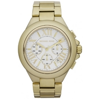 Buy Michael Kors Ladies Gold Tone Steel Bracelet Chronograph Watch MK5635 online