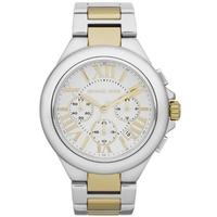 Buy Michael Kors Ladies Chronograph 2 Tone Steel Bracelet Watch MK5653 online