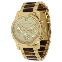 Buy Michael Kors Ladies 2 Tone Steel Bracelet Chronograph Watch MK5659 online